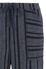 Textured Linen Blend Wide Leg Trousers