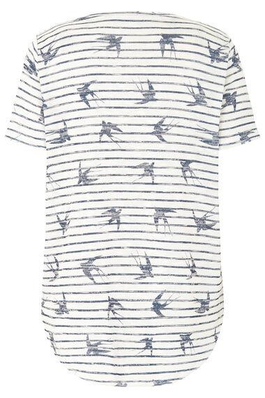 Bird & Stripe Printed Snit Sweat