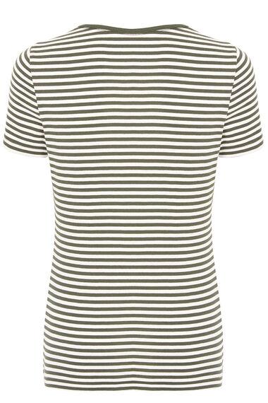 Stripe Square Neck T-Shirt