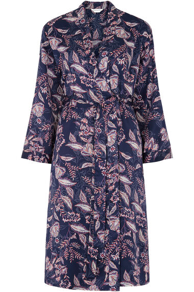 Satin Floral Dressing Gown