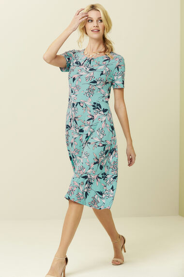 2 in 1 Printed Dress and Shrug