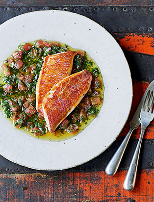 James Martin Recipes: Red Mullet with Sauce Vierge
