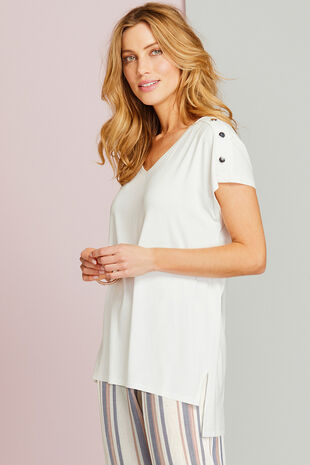 Longline Top With Button Detailing