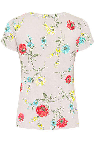 Poppy Floral Print V Neck Top