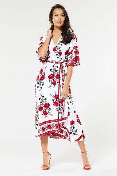 Izabel Wrap Midi Dress