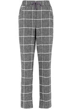 Check Wide Leg Linen Blend Trouser