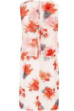 Magnolia Print Double Layer Dress