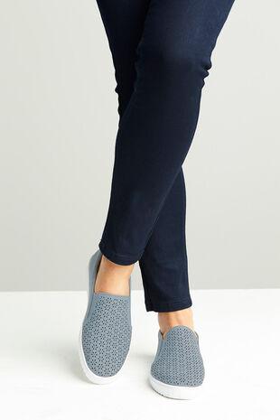 London Cushion Walk Slip On Cut Out Shoe
