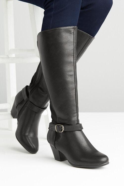 Comfort Plus Buckle Knee High Boot