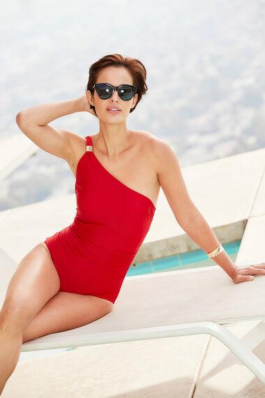 Asymmetric Swimsuit With Detachable Strap