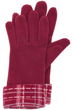 Checked Print Scarf and Glove Set