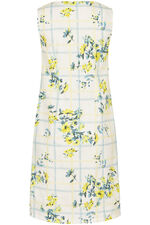 Floral Checked Cotton Dress
