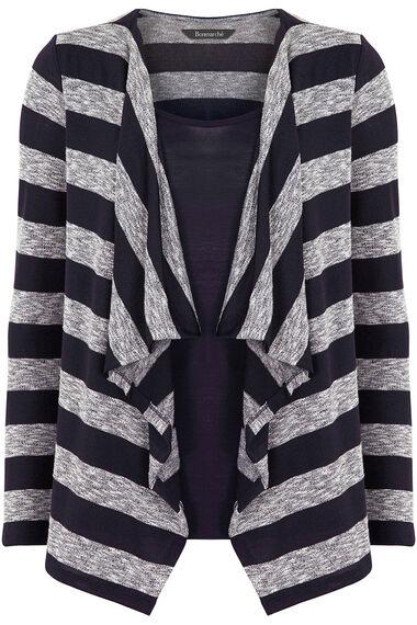 Striped Drape Front Top