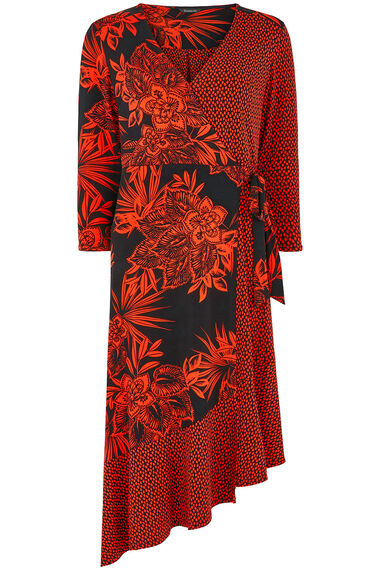 Mix and Match Printed Wrap Dress