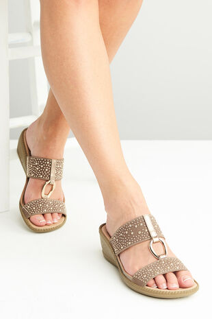 Cushion Walk Palma Ring Mule With Studs