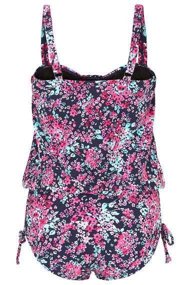 Ditsy Floral Print Blouson Swimsuit
