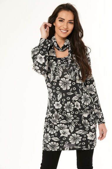 Stella Morgan Soft Touch Floral Print Tunic
