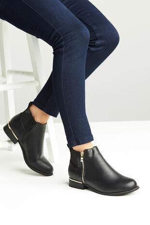 Krush Zip Detail Flat Boot