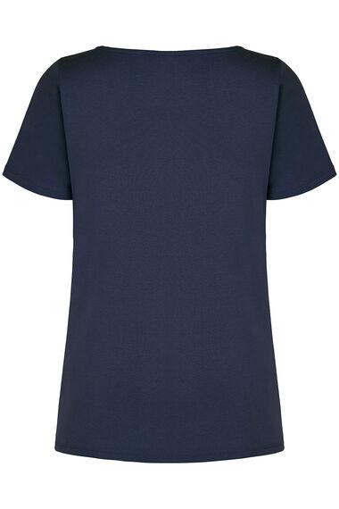 Boat Neck Basic T-shirt