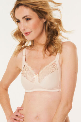 Cotton Lace Trim Bra