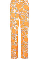 Grace By Eda Chain Print Wide Trouser