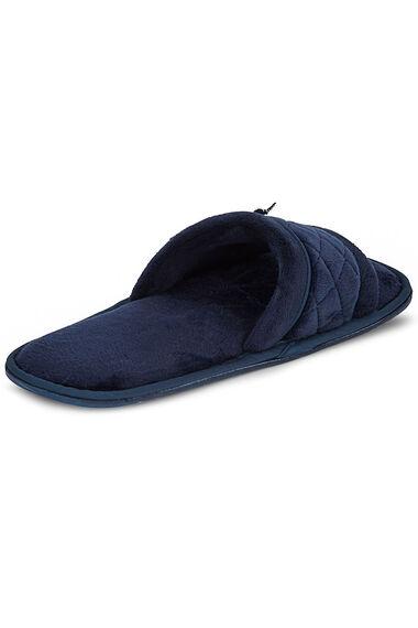 Velour Open Toe Slipper