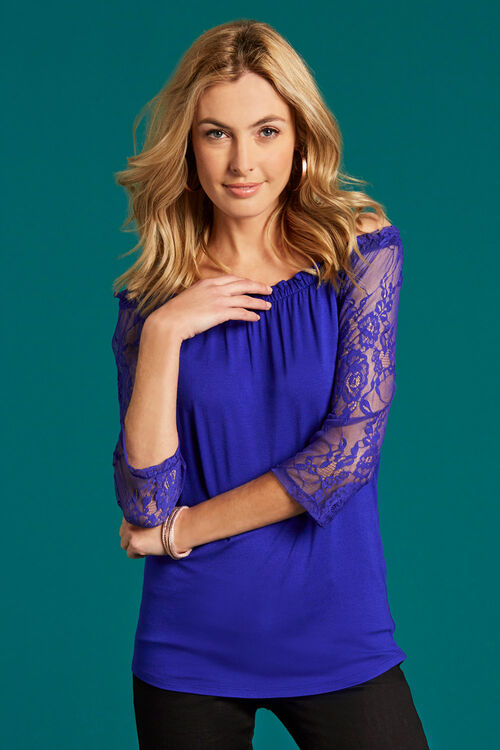 Lace Sleeve Gypsy Style Top