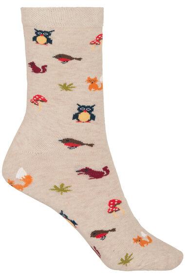 3 Pack Woodland Printed Sock