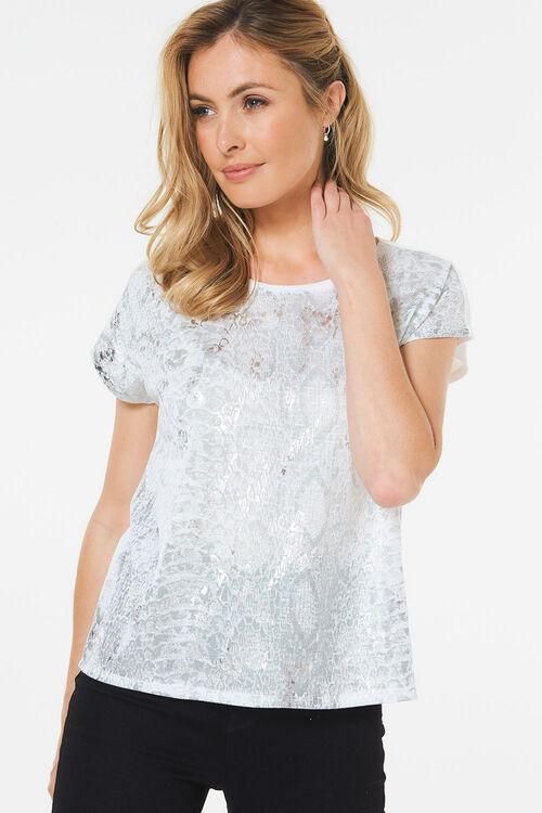 Foil Snake Print T-Shirt