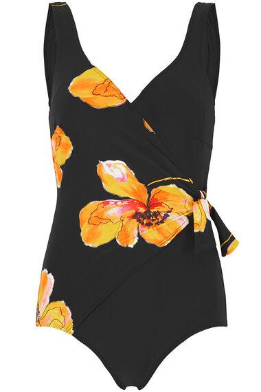 Poppy Print Tie Detail Swimsuit