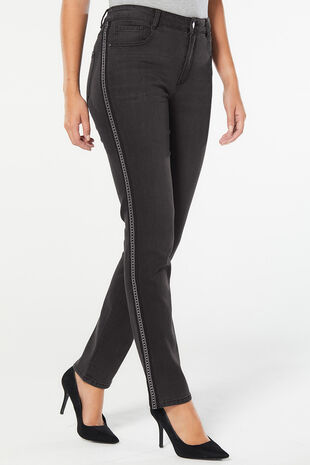Side Stripe Susie Slim Leg Jean