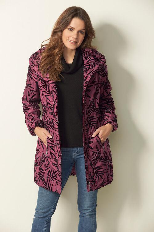 Flock Printed Padded Coat