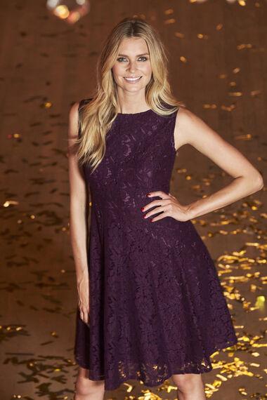 Ann Harvey Lace Panel Dress