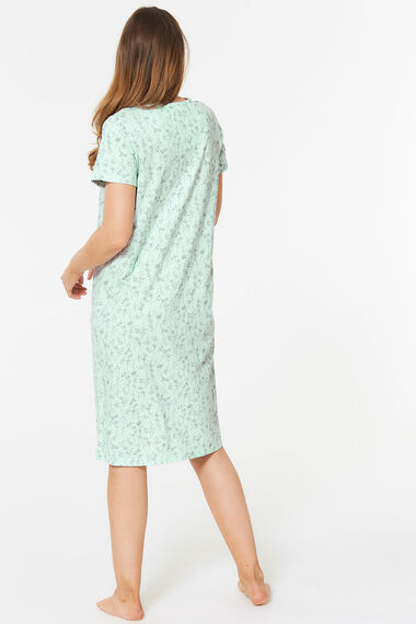 Leaf Print Nightdress