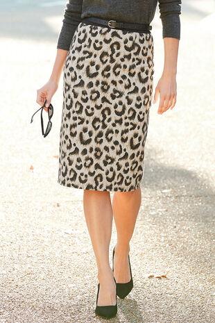Animal Cashtouch Pencil Skirt