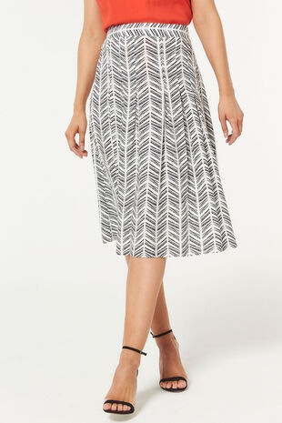 Chevron Printed Flippy Skirt