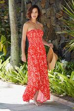 Bamboo Print Jersey Maxi Dress