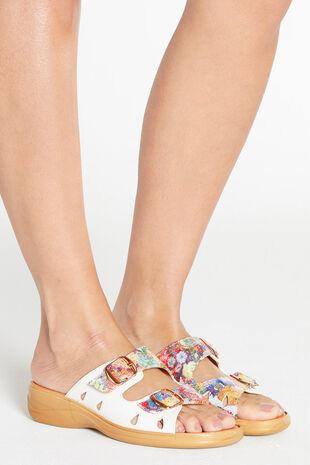 Cushion Walk Double Strap Slip On Sandal