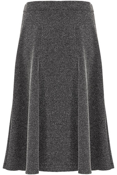 Printed Grey Ponte Skirt