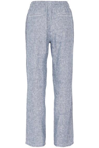Stripe Wide Leg Linen Blend Trouser