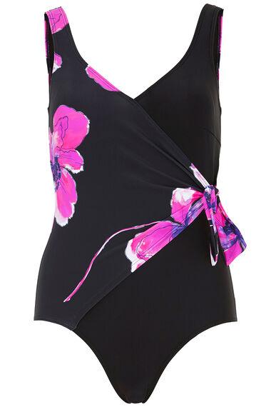 Poppy Print Side Tie Swimsuit