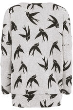 Stella Morgan Swallow Print Soft Touch Sweater