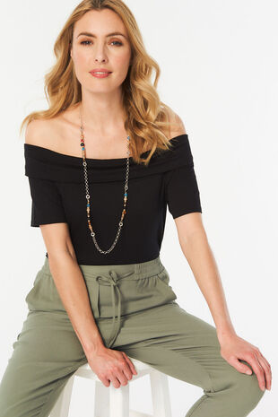 Plain Bardot Top