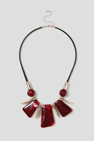 Muse Red Piano Collar Necklace