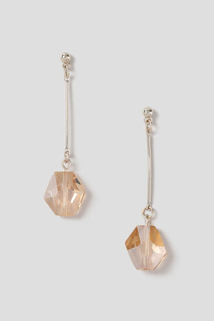 Muse Faceted Bead Drop Earring