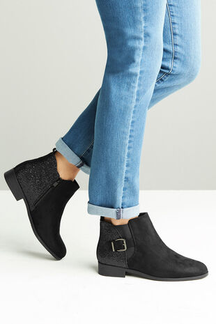 Krush Glitter Detail Ankle Boot