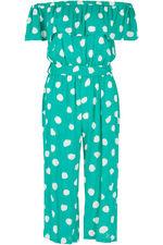Spot Print Bardot Jumpsuit
