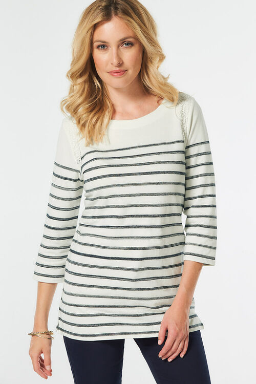 Stripe Tunic with Lace