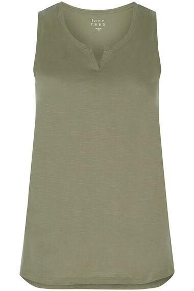 Plain Notch Neck Vest
