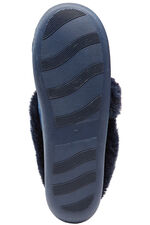 Velvet Fur Trim Slipper